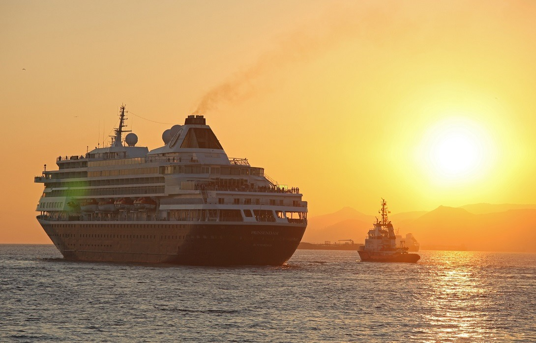 Cruise Ships in Greece by Patroklos Stellakis
