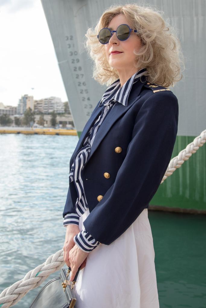 Street Fashion Photography in Piraeus Port by Patroklos Stellakis